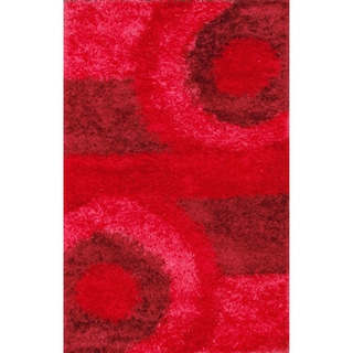 Decorative Red Shag Rug (5' x 8')