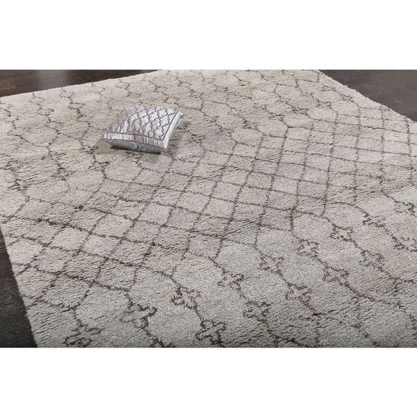 ABC Accents Beni Ourain Moroccan Grey Wool Area Rug (9' X