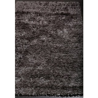 ABC Accents Stylish and Smooth Grey Shag Rug (2'2 x 6'7)