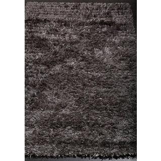 Stylish and Smooth Grey Shag Rug (3'1 x 4'10)