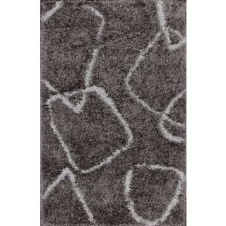 Styishly Modern Grey Shag Rug (4'8 x 11')