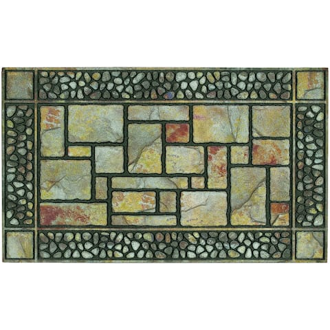 "Mohawk Home Outdoor Patio Stones Doormat (1'6 x 2'6) - 1'6"" x 2'6"""