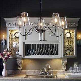 Chic 5-light Polished Chrome Chandelier