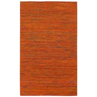 Recycled Sari Silk Orange Rug (4' x 6') - 4' x 6'