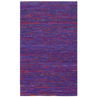 Recycled Sari Silk Purple Rug (4' x 6')