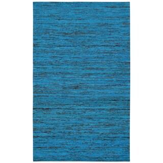Recycled Sari Silk Aqua Rug (5' x 8')