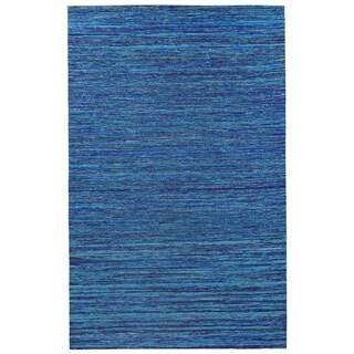 Recycled Sari Silk Blue Rug (5' x 8')