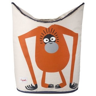 3 Sprouts Orange Orangutan Laundry Hamper