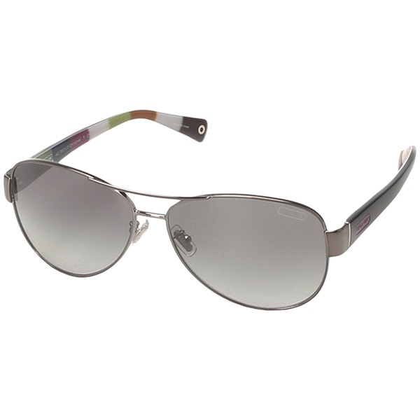 55370024ff6 Coach Women  39 s   39 L012 Kristina HC7003  39  Coach Polarized Aviator  Sunglasses ...