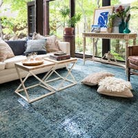 Alexander Home Emerson Indigo Wool Area Rug (7' 6 x 10' 5)