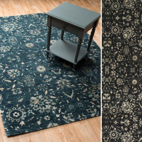 Alexander Home Emerson Floral Lace Rug
