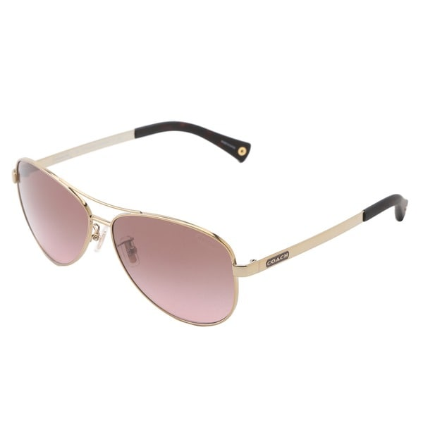 Coach Women's 'L055 Stefanie' HC7025' Aviator Sunglasses