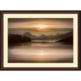 Ken Messom 'Oxbow Bend' Framed Art Print 43 x 32-inch