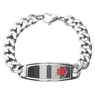 Vance Co. Men's Stainless Steel Medical ID Bracelet