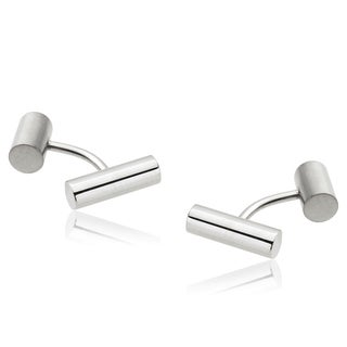 Vance Co. Men's Stainless Steel Cuff Links