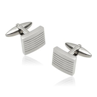 Vance Co. Men's High Polish Stainless Steel Cuff Links