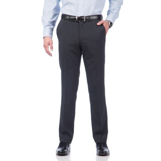 Kenneth Cole New York Men's Blue Check Wool Blend Pant