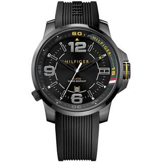 Tommy Hilfiger Men's 1791008 Black Silicone Strap Watch