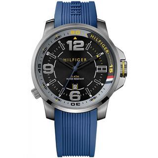 Tommy Hilfiger Men's 1791010 Blue Silicone Strap Watch