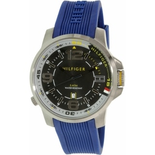 Link to Tommy Hilfiger Men's 1791010 Blue Silicone Strap Watch  Similar Items in Men's Watches