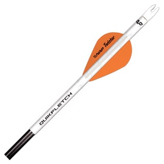 New Archery Quikfletch Twister 2 In. 6-pack Wht/ Org