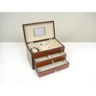 Genoa Dark Cherry Jewelry Box