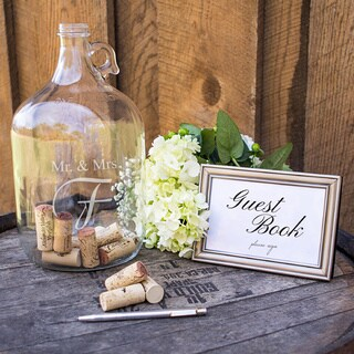 Personalized Mr. & Mrs. Wedding Wishes in a Bottle Guest Bottle (More options available)