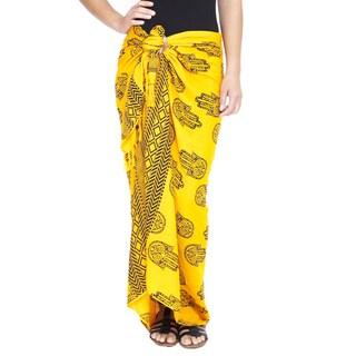 Om Ganesh Women's Rayon Sarong (Indonesia)