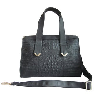 Amerileather Leather Embossed Shoulder Bag