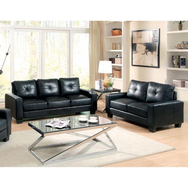 Shop Furniture Of America Dresford 2-Piece Tufted Black