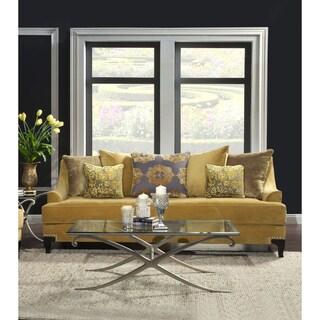 Furniture of America Visconti Premium Velvet Sofa