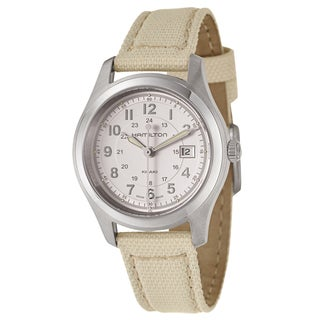 Hamilton Women's 'Khaki Field Quartz' Stainless Steel Military Time Watch