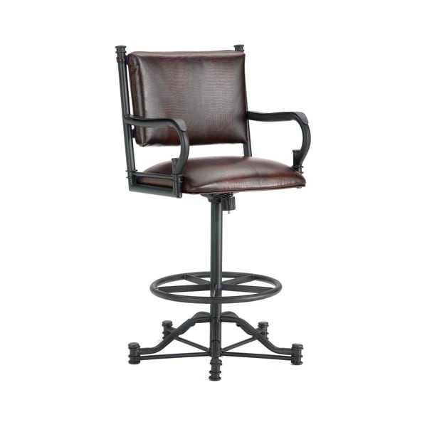 Baltimore Tilt Swivel Bar Stool With Arms Free Shipping
