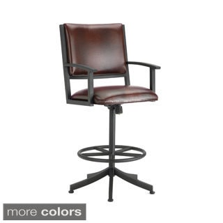 Executive Tilt Swivel Counter Stool with Arms