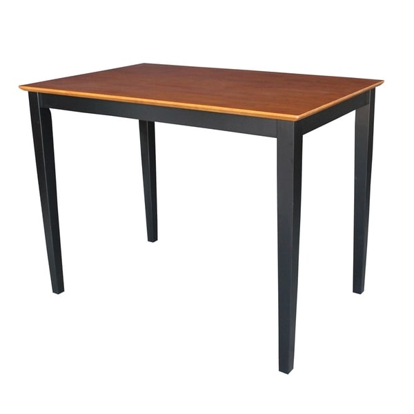 International Concepts Black/ Cherry Solid Wood Counter Height Table With  Shaker Legs   Black