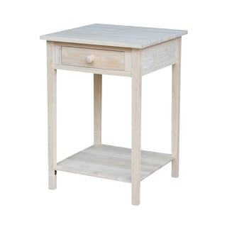 Hampton Unfinished Solid Parawood Bedside Table