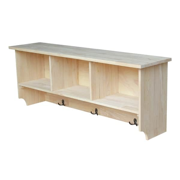International Concepts Unfinished Wall Shelf Unit With