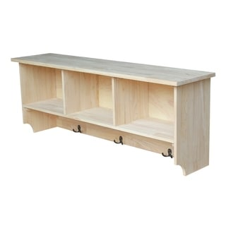 Unfinished Wall Shelf Unit with Storage