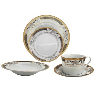 Elegant Floral Patterned 40-piece Dinnerware Set