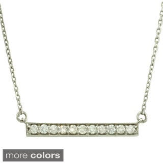 14k White or Yellow Gold 1/4ct TDW Diamond Bar Necklace