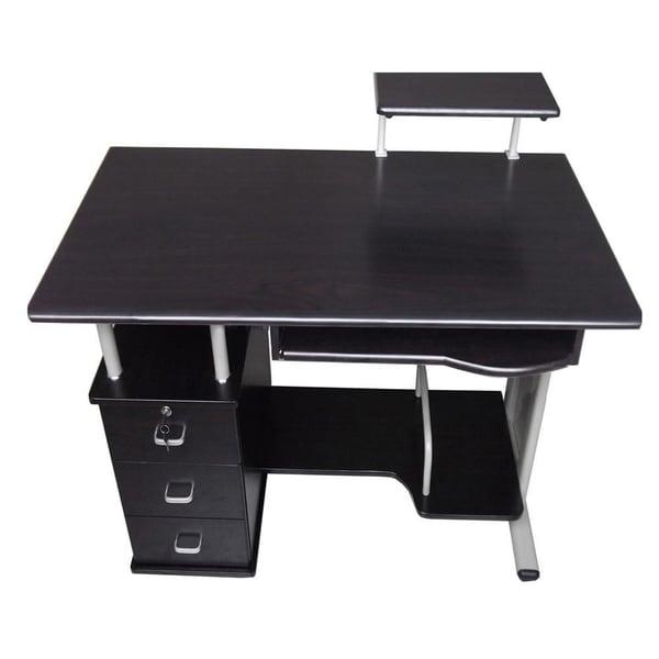 merax office contemporary style black computer desk black computer desks