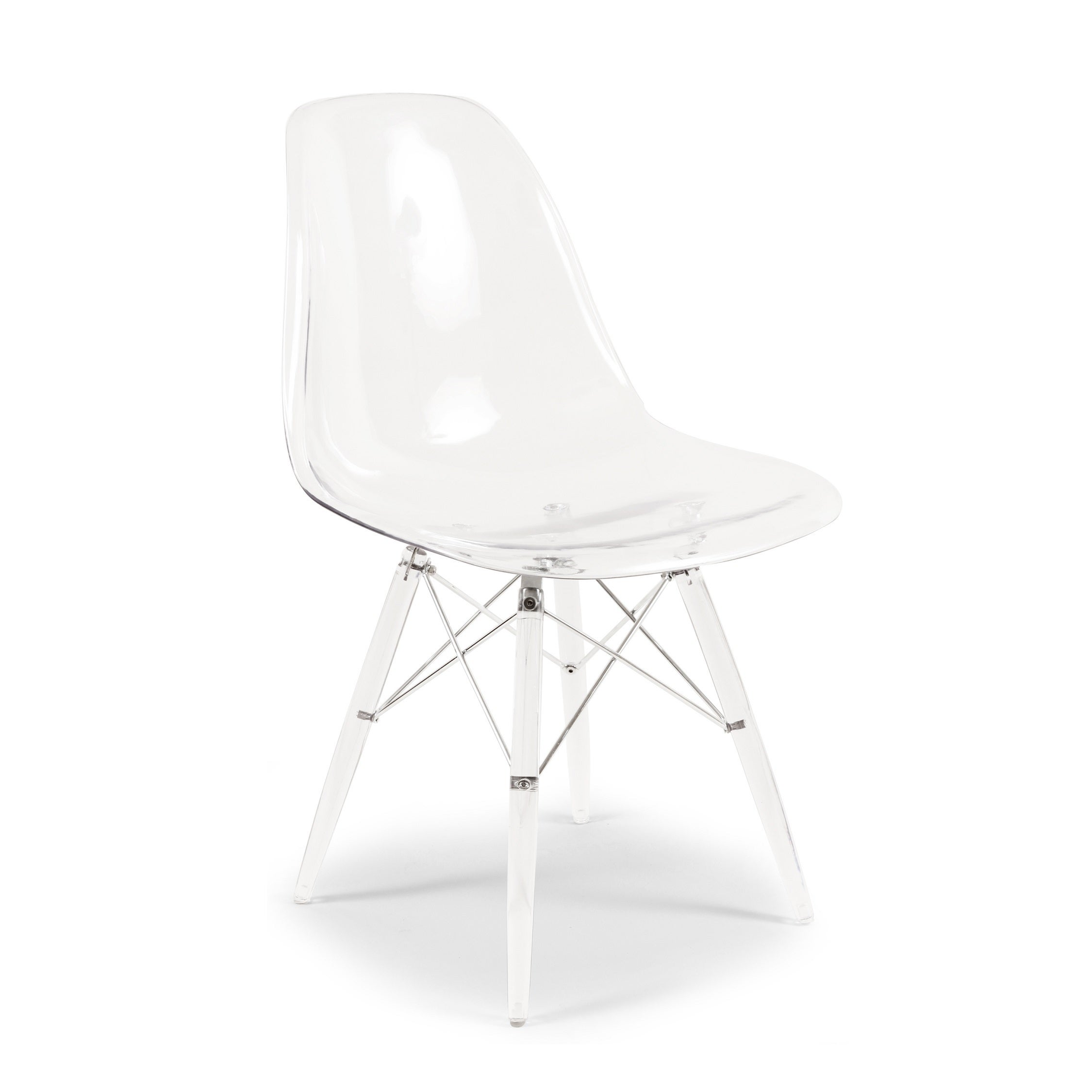 Hans Andersen Home Mid-Century Style Dining Chair (Clear)