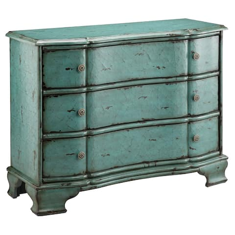 Ilana Vintage Turquoise 3-drawer Accent Chest
