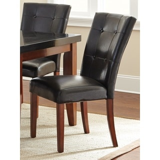 Greyson Living Bailey Black Button-tufted Parson Chair (Set of 2)