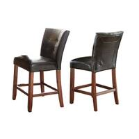 Bailey Black and Medium Cherry Counter-height Parson Chair (Set of 2)  by Greyson Living
