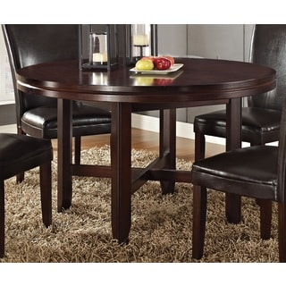 Hampton Dark Brown Cherry 52-inch Round Dining Table  by Greyson Living