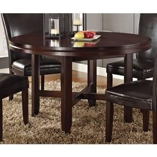 Greyson Living Hampton Dark Brown Cherry 52 Inch Round Dining Table