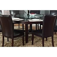 Hampton Dark Brown Cherry 72-inch Round Dining Table  by Greyson Living