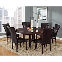 Greyson Living Hampton Dark Brown Cherry and Bonded Leather Dining Set