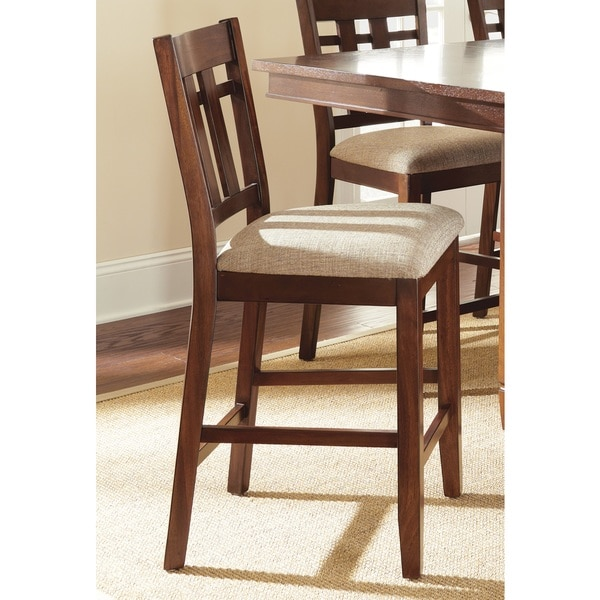 Greyson Living Blake Medium Oak and Beige Counter-height Dining Chair (Set of 2)